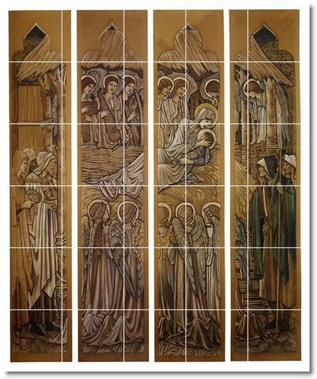 Burne-Jones Religious Tile Mural Kitchen Backsplash Home Decor