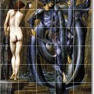 Burne-Jones Mythology Tile Mural Backsplash Kitchen Decor Home