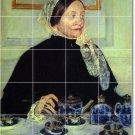 Cassatt Women Dining Room Mural Tiles Remodel Ideas Residential