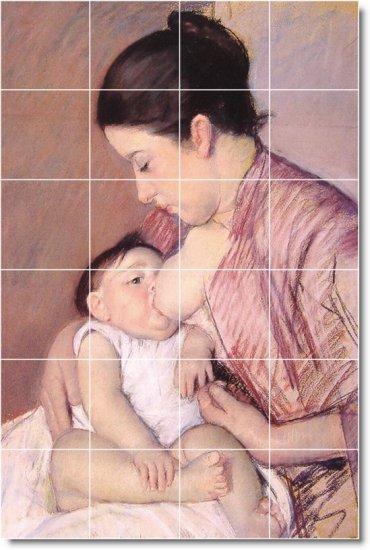 Cassatt Mother Child Wall Tiles Shower Interior Ideas Renovations