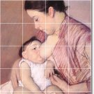 Cassatt Mother Child Wall Tiles Shower Interior Ideas Renovations