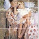 Cassatt Mother Child Tiles Dining Room Wall House Remodeling Idea