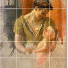 Cassatt Mother Child Tiles Wall Dining Room Idea House Remodeling