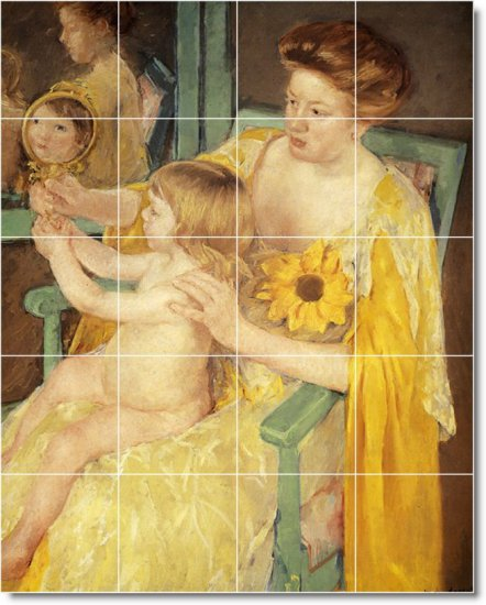 Cassatt Mother Child Mural Tiles Floor Room House Idea Decorating