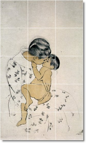 Cassatt Mother Child Tiles Floor Room Mural Idea House Decorating