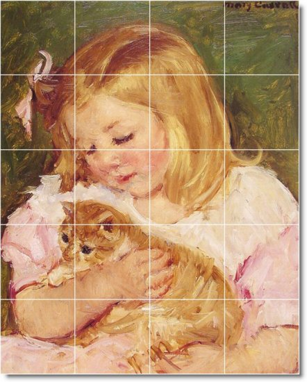 Cassatt Animals Tile Murals Wall Dining Room Ideas Home Remodel