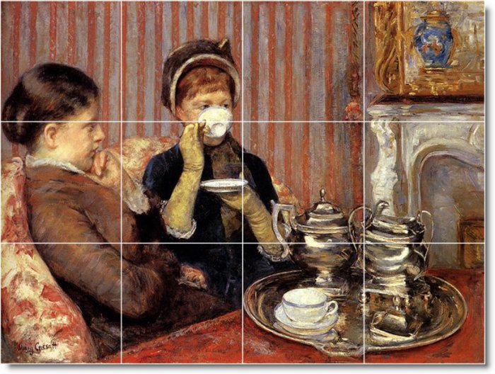 Cassatt Children Tile Murals Wall Bedroom Decor Interior Decor