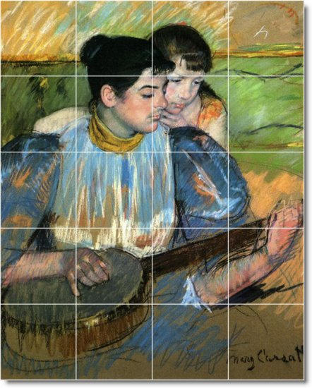 Cassatt Children Wall Bedroom Tile Murals Decor Decor Interior