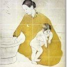 Cassatt Mother Child Shower Wall Murals Tile Interior Decor Decor
