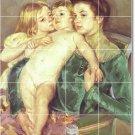 Cassatt Mother Child Shower Murals Tile Wall Interior Decor Decor