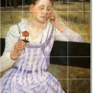 Cassatt Women Wall Tile Murals Room Contemporary Renovate House