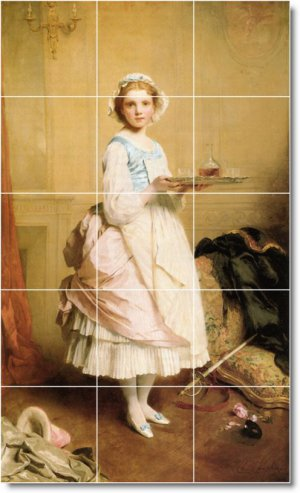 Chaplin Women Room Floor Mural Tiles Remodeling Idea Commercial