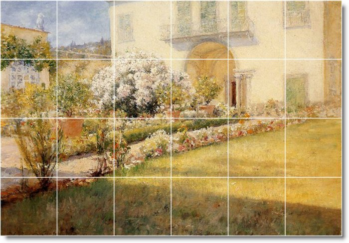 Chase Village Wall Tiles Mural Shower Traditional House Remodel