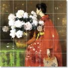 Chase Flowers Wall Mural Room Living Tiles Modern Renovate Home