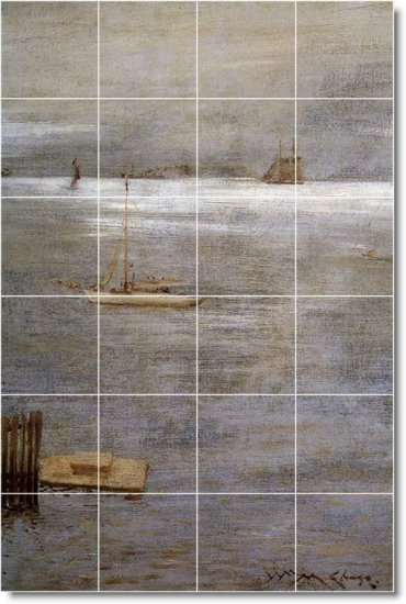 Chase Waterfront Tile Room Mural Wall Dining Floor Decor Decor
