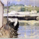 Chase Waterfront Tile Wall Room Dining Mural Decor Decor Floor