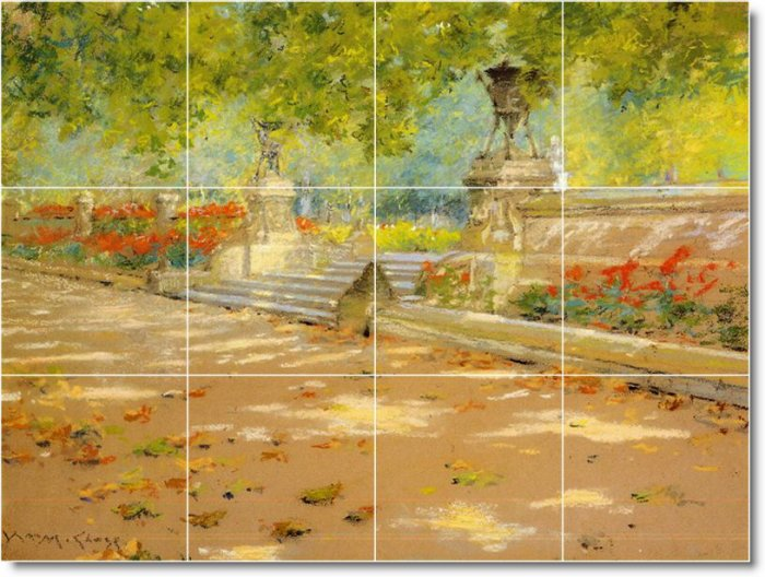 Chase Village Tiles Wall Mural Mural Room Idea Decorating House