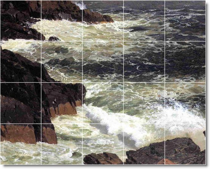 Church Waterfalls Tile Wall Backsplash Mural Kitchen Modern Floor