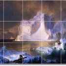 Church Waterfront Dining Murals Tile Wall Room Ideas Construction