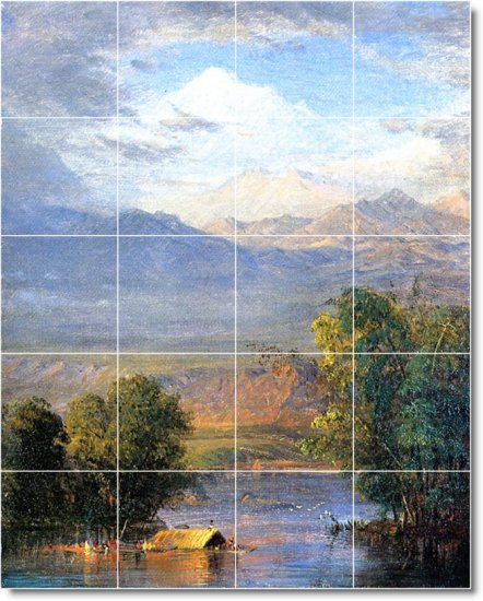 Church Landscapes Tile Murals Dining Room Wall Home Remodel Ideas