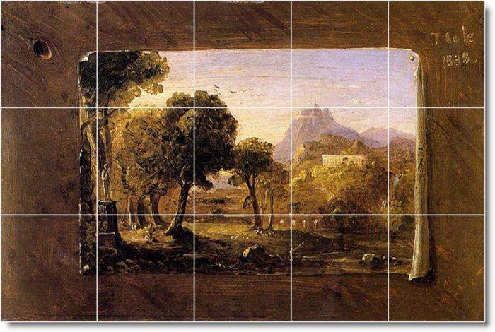 Cole Landscapes Room Tile Dining Murals Remodel Decor Interior