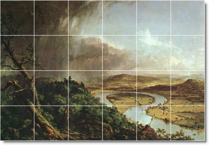 Cole Landscapes Murals Wall Room Tile Interior Modern Decorate