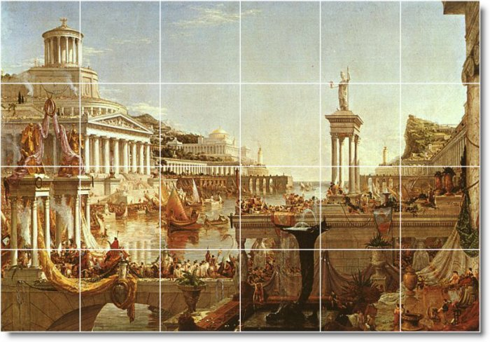 Cole Historical Murals Wall Tile Room Interior Decorate Modern