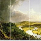 Cole Landscapes Room Mural Tiles Floor Contemporary Remodeling