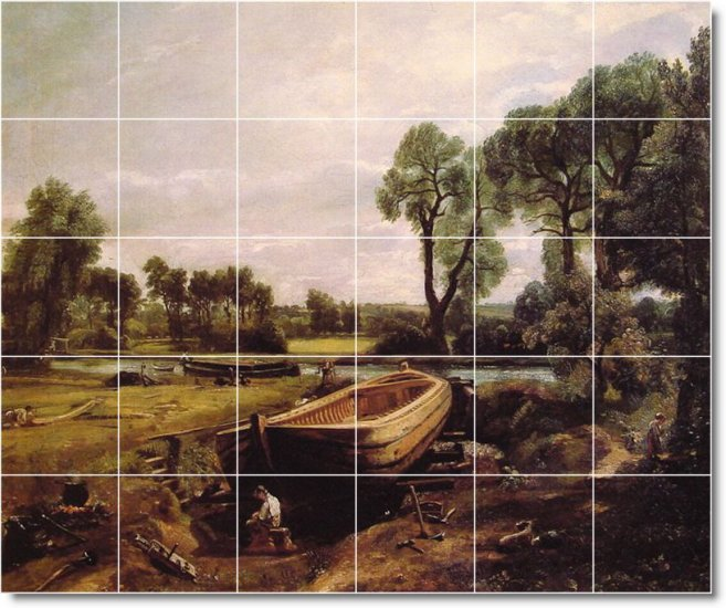 Constable Country Wall Dining Tile Room House Construction Ideas
