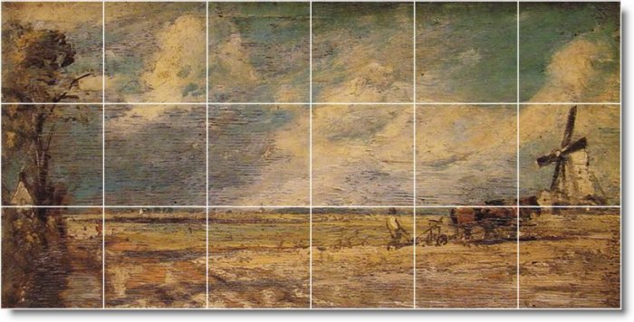 Constable Country Shower Wall Mural Tile Ideas Renovate Interior