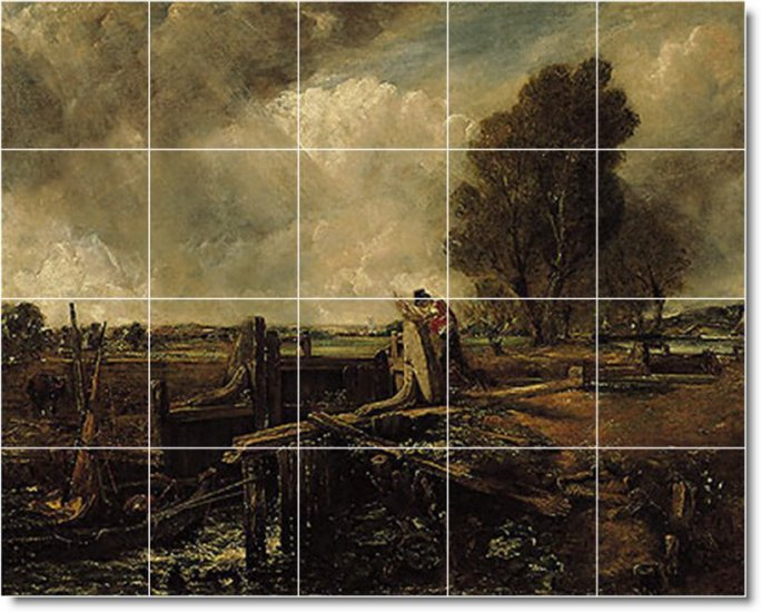 Constable Country Tile Bathroom Murals Remodeling Decorate House