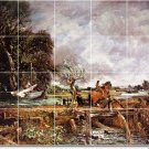 Constable Country Dining Murals Tile Room Interior Remodel Decor
