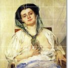 Corinth Women Dining Room Mural Tile Wall Contemporary Renovate