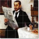 Corinth Men Mural Wall Tile Room Remodeling Idea Decorate House