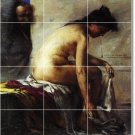 Corinth Nudes Mural Wall Room Dining Tile Home Ideas Remodeling
