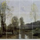 Corot Landscapes Room Dining Floor Mural Decorating House Idea