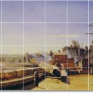 Corot Waterfront Room Dining Mural Floor Decorating Idea House