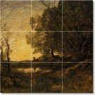 Corot Country Tile Murals Kitchen Wall Remodeling Interior Idea