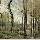 Corot Landscapes Backsplash Kitchen Mural Interior Decor Decor