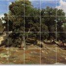 Corot Landscapes Mural Backsplash Kitchen Decor Interior Decor