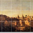 Corot Village Murals Kitchen Tile Wall Idea Remodeling Interior