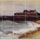 Corot Waterfront Tile Backsplash Mural Commercial Construction