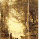 Corot Landscapes Mural Living Room Tile Modern Design Interior