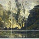 Corot Landscapes Shower Wall Tile Design Idea Renovations Home