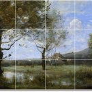 Corot Landscapes Bedroom Wall Mural Design Renovation Interior