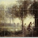 Corot Country Murals Dining Room Wall Wall Renovation Home Idea