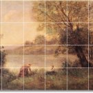 Corot Landscapes Wall Murals Shower Tile Modern House Renovate