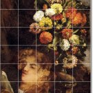 Courbet Flowers Bathroom Tile Wall Mural Shower Modern Remodel