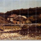 Courbet Village Wall Shower Murals Bathroom Tile House Remodel