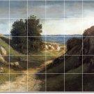 Courbet Landscapes Mural Dining Tiles Room Modern Renovations